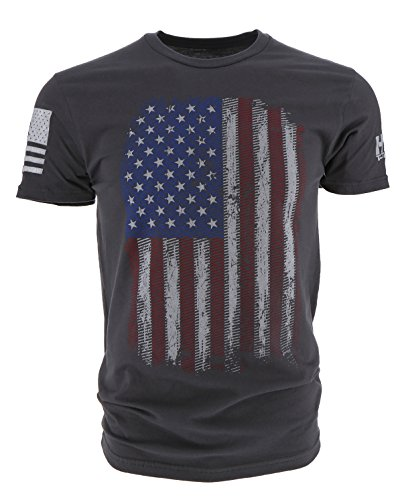 Grunt Style HYDRA Tactical Full Color Flag Men's T-Shirt (Large, Heavy Metal)