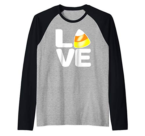 I Love Candy Corn Cute Candy Corn Best Halloween Candy Ever  Raglan Baseball