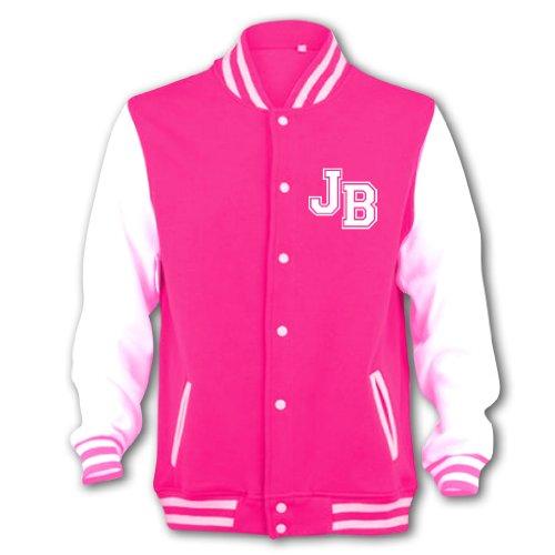 Bang Tidy Clothing Girl's JB Girlfriend Varsity College Jacket 9-10 Years Pink -