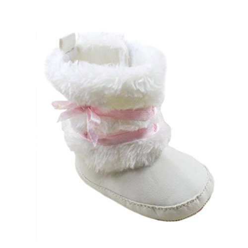 Baby Girls Bowknot Winter Snow Boots (Black) - 3
