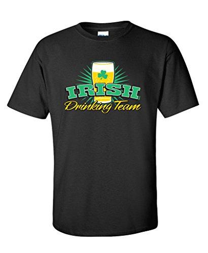 IRISH DRINKING TEAM LIGHT BEER Irish St Patrick's Day T Shirt XL Black (T-shirt Drinking Team Light)