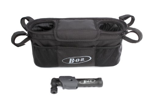 BOB Handlebar Console with Tire Pump for Single Jogging - Bag Black Stroller Single