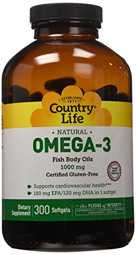 Country Life Omega 3 Fish 300 Count product image