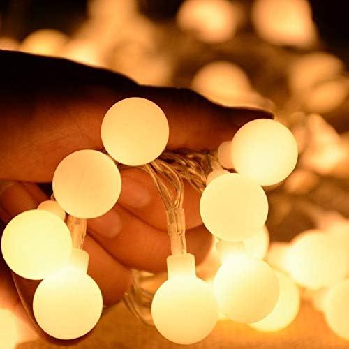 Lichterkette Neue 10m Fee Girlande USB fernbedienung LED Ball String Lichter Wasserdicht Für Weihnachten Baum Hochzeit Hause indoor Dekoration
