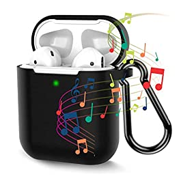 ORIbox Silicone Case for AirPods, Cover Silicone Protective Case Skin for Apple Airpods 2 and 1 (Front LED Visible…