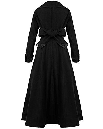 sale retailer 3773b e03cf Punk Rave Aristocrat Mantel Jacke Damen schwarz lang elegant ...