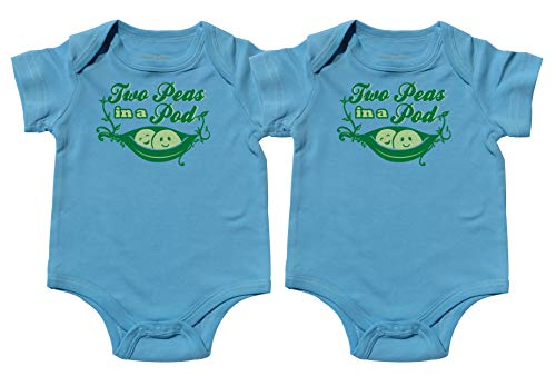 Nursery Decals and More Matching Onesies for Boys, Includes 2 Bodysuits, 0-3 Month Pea Pod