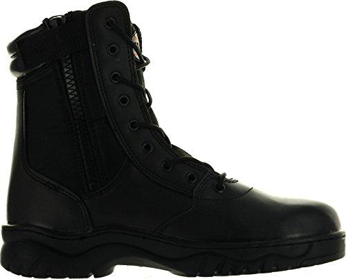 Heren 1009bl Tactische Laarzen Zwarte Zijrits 8 Combat Military Swat Werkschoenen Zwart