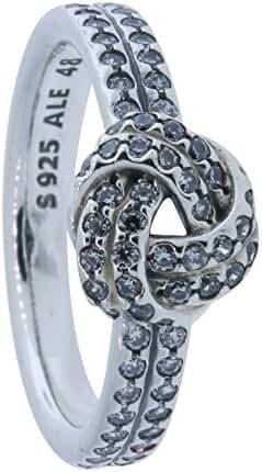 Pandora Sparkling Love Knot Ring 190997cz-48 size (4.5)