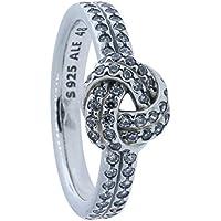 Pandora Womens Sparkling Love Knot Clear CZ Ring Size 5 - 190997CZ-50