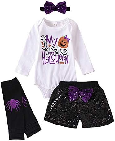 Sunnymi Kledingset voor babymeisjes voor de zomer 024 maanden voor kleine kinderen meisjes Halloween print set rompers broek outfit vrijetijdskleding