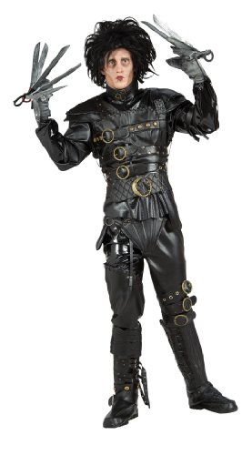 Edward Scissorhands Costume, Black, Standard (Homemade Halloween Costumes For Men)