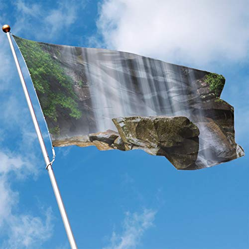 YUANSHAN Home Garden Flag Waterfalls Surrounded Polyester Flag Indoor/Outdoor Wall Banners Decorative Flag 3' X 5'
