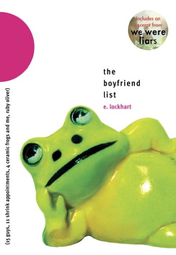 Image result for The Boyfriend List: (15 Guys, 11 Shrink Appointments, 4 Ceramic Frogs, and Me, Ruby Oliver)