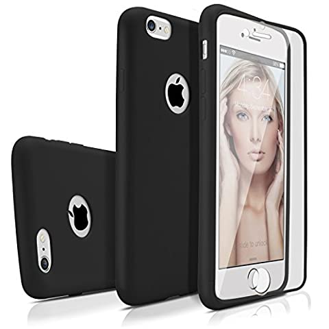 iPhone 6s Plus Case, MagicMobile Premium [Full-Body Coverage] Protective Thin Soft TPU Case for Apple iPhone 6s Plus (5.5'-inch) with Built-In Flip Clear Screen Protector (Black)