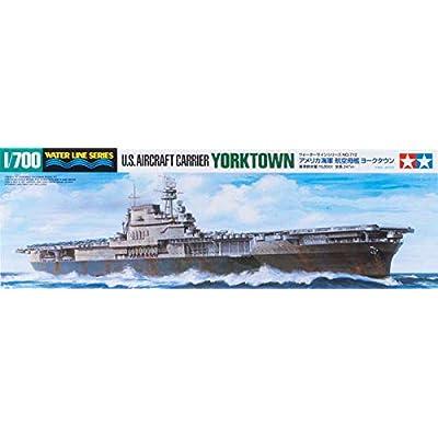 Tamiya America, Inc 1/700 US Aircraft Carrier Yorktown CV-5, TAM31712: Toys & Games