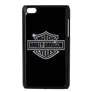 iPod Touch 4 Case Black Harley Davidson EVX Cell Phone Case With Strap