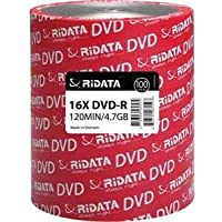 100-Pack RiDATA DRD-4716-RD100ECOW 4.7GB 16X DVD+RW Disc Spindle