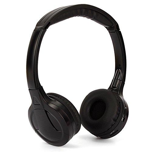 NAVISKAUTO On-Ear Headphone Headset Over-Ear Headphones 3.5mm with Volume Control and Built-in IR Receiver -Black