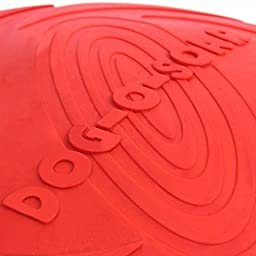 B&Y Rubber Food Induced Elastic Flyer Visual Excitement Pet Flying Disc Red
