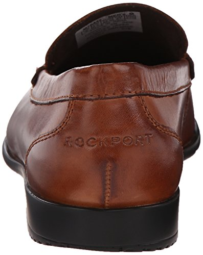 Men's Classic Dark Loafer Cognac Venetian Rockport Brown Slip Lite On fpxwqUOq