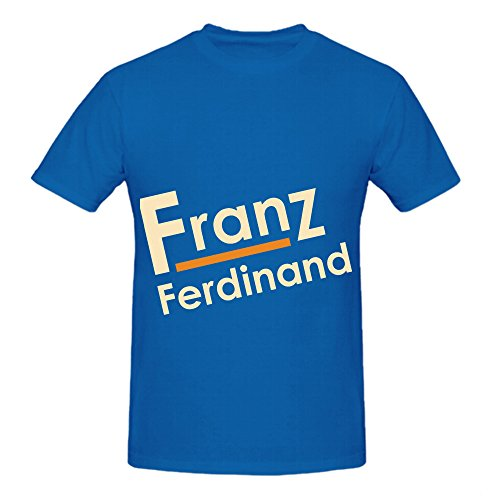 [Franz Ferdinand Tracks Album Men Crew Neck Graphic Tee Shirts Blue] (Sweeney Todd Halloween)