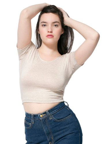 american-apparel-womens-cotton-spandex-jersey-crop-tee-oatmeal-size-medium