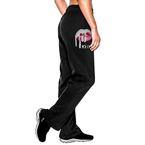 Raleigh Womens Capri - MEGGE Women's Kylie Jenner Drawstring Jersey Pant Black M