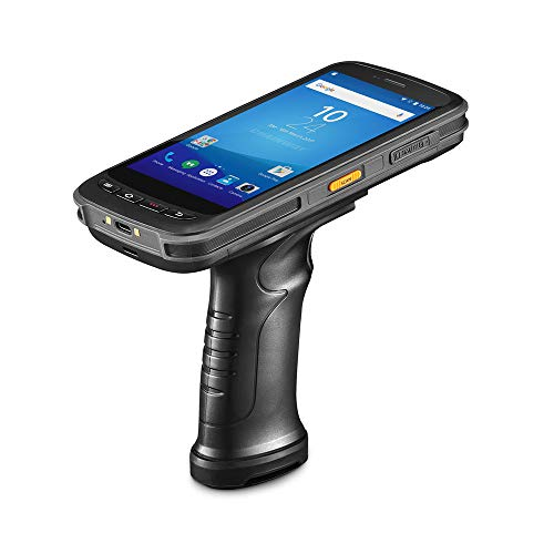 (Android Handheld Data Terminal Mobile Computer with 2D PDF417 Honeywell Barcode Scanner 3G 4G WiFi BT GPS, Ergonomic Pistol Grip & Charging Cradle for Warehouse Inventory)