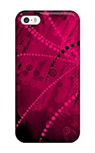 New Fashion Premium Tpu Case Cover For Iphone 5/5s - Pink Dark Vector 1080p