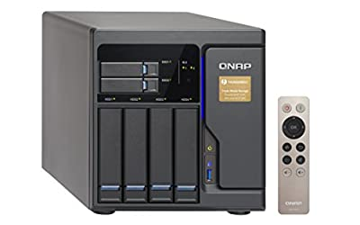 Qnap 6 Bay Thunderbolt 2 Das/NAS/iSCSI Ip-San Solution, Intel Core i3-6100 Dual Core (TVS-682T-i3-8G-US)