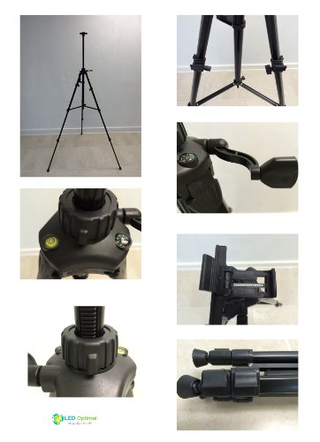 LED Optimal 62-Inch Tripod with Integrated Tripod Bubble Level and Compass for LED Writing Board (Newest Model) by LED Optimal