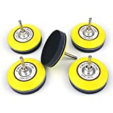 3 Inch (75mm) Hook and Loop Sanding Pad for Sanding Discs with 6mm Dia Shank Drill Attachment + Soft Foam Layer Buffering Pad, 5 Pack