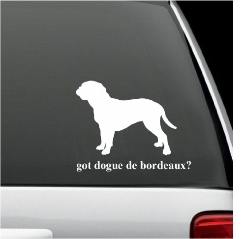 got dogue de bordeaux? White Decal Sticker Dog Bumper Laptop Car White Decal Sticker 5