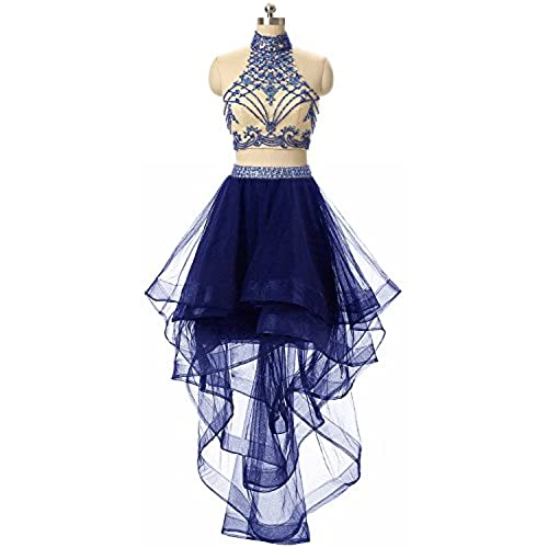 Royal Blue Two Piece Prom Dress: Amazon.com