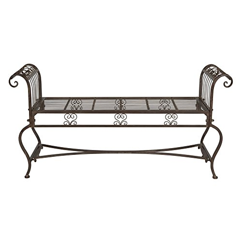 Safavieh Outdoor Collection Brielle Rustic Brown Bench