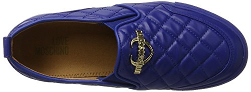 Love Moschino Dame W.sneakers Vrijlating Blau (bluette)