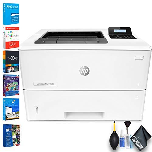 HP Laserjet Pro M501dn Monochrome Laser Printer (J8H61A) with Printer Essentials Software 100 Sheet Multi Purpose Tray