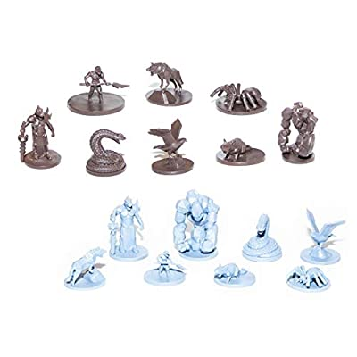 SMILING GM 40 Wild Creatures Unpainted Miniatures for Tabletop Roleplaying Games Ready to Play: Toys & Games