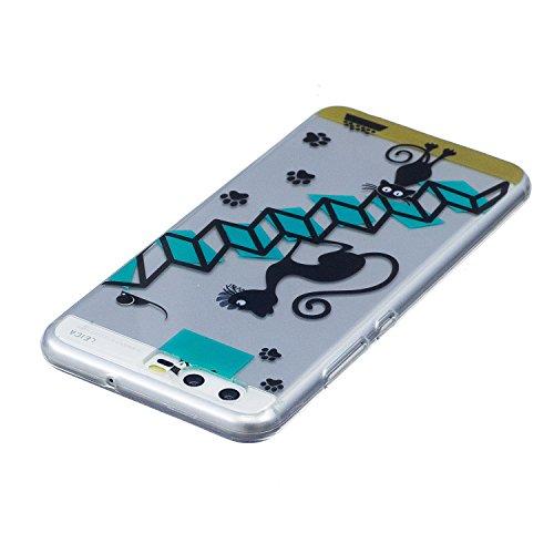 Funda Huawei P10, CaseLover Carcasa para Huawei P10 (5.1 Pulgadas) Ultra Delgado Transparente Suave Silicona TPU Flexible Gel Protectora Cubierta Resistente a los Arañazos Tapa Ligero Caja Anti-Rasguñ Escalera