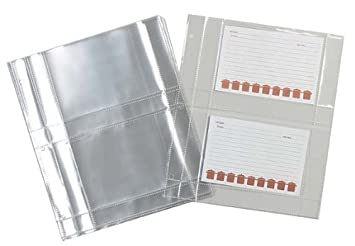 Amazing Meadowsweet Kitchens Plastic Recipe Card Protectors For 3 Ring Binders, 15  Sheets