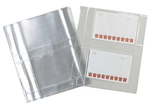 Meadowsweet Kitchens Plastic Recipe Card Protectors for 3 ring binders, 15 Sheets -