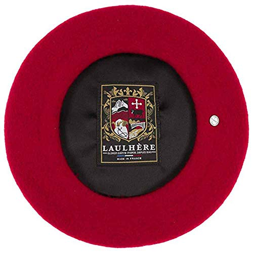 - Laulhere Heritage Classiques Authentique Traditional French Wool Beret (Red)