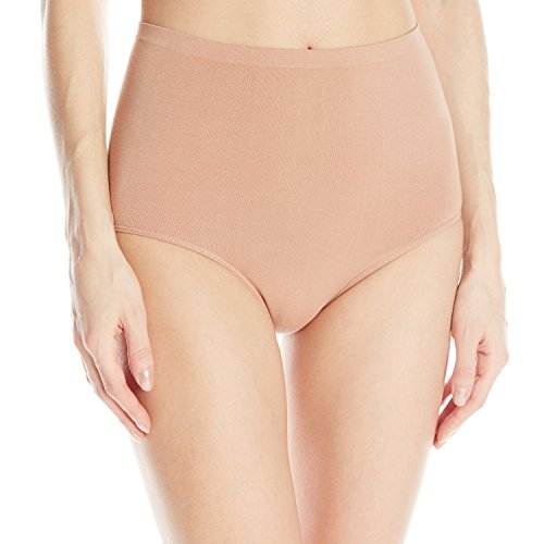 Ahh By Rhonda Shear Women's Cotton Blend Seamless Panty, Nude, 3X