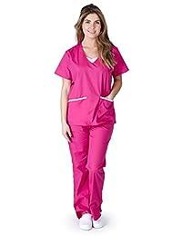 Natural Uniforms Women's Contrast Jersey Scrub Set