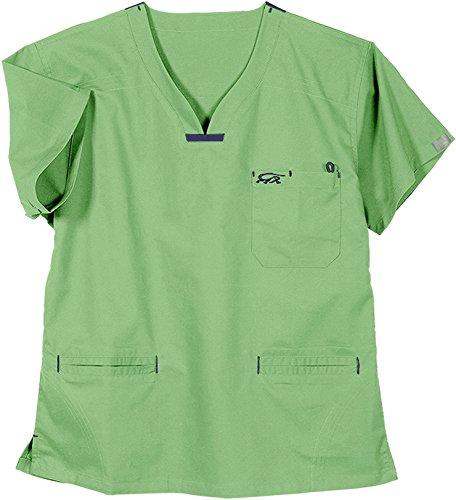 Iguanamed MA153040 Women's 5600 Quattro Top, 3X-Large, Iguana Green (Pants Women Scrub Iguana)