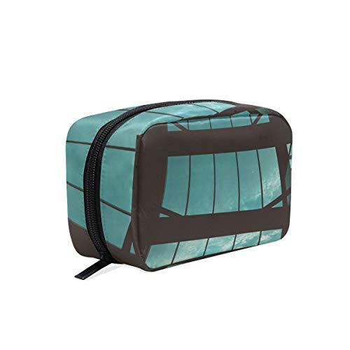 Cosmetic Makeup Bag Pouch Man Silhouette Window Birds Clutch]()