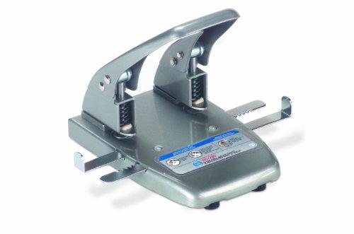 (CARL 62040 40-Sheet Capacity hc-240 Two-Hole Punch, 9/32 Dia. Holes, Silver)