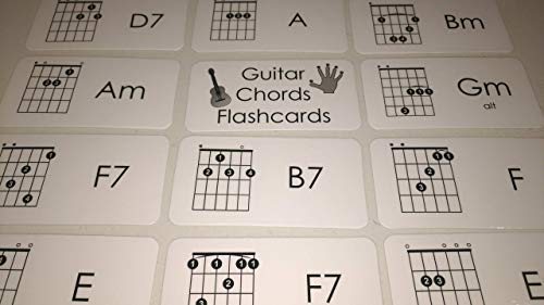 (23 Laminated Guitar Chords Music Flashcards.)
