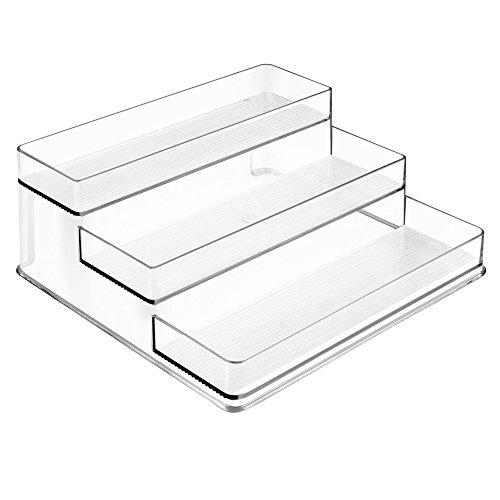 InterDesign Linus Tiered Stadium Spice Racks for Kitchen & Pantry Storage Organization – Pack of 2, Clear (62130M2) by InterDesign